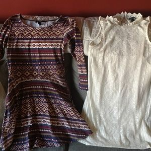 2 fall dresses sz Small forever 21 love reign